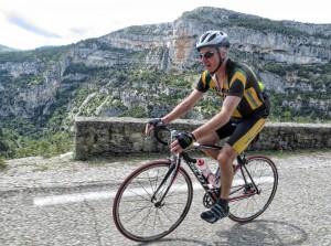 Keith riding the Gorges de la Nesque