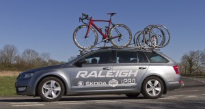 Raleigh Team Car on the A422