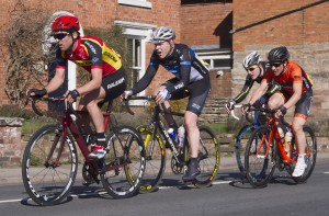 Yanto leads a group past the village green in Inkberrow